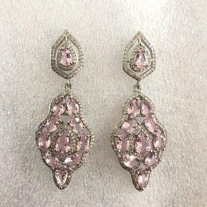 925 silver Pink Kunzite earrings